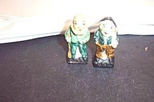 Vintage Set Of Old Men Salt & Pepper Shakers