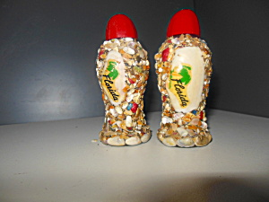 Vintage Sea Shells Florida Salt & Pepper Shakers