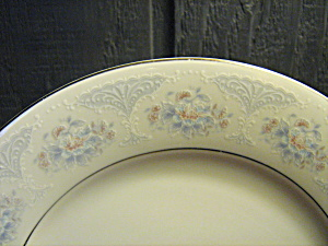 Silverie Fine China Sapphire Rimmed Soup Bowl