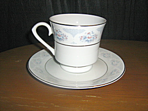Silverie Fine China Sapphire Cup And Saucer Set