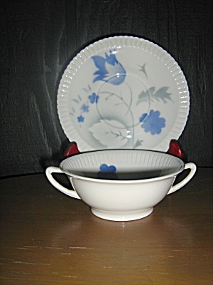 Vintagesyracuse China Shelledge Vogue Soup Cup/ Saucer