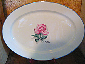 Vintage Syracuse China Iron Wimm Rose Large Ovalplatter