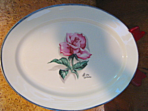 Vintage Syracuse China Iron Wimm Rose Oval Platter