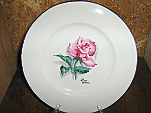 Vintage Syracuse China Iron Wimm Rose Luncheon Plate
