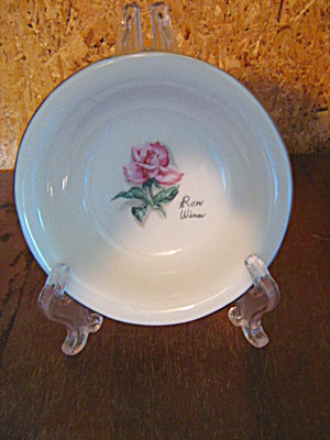Vintage Syracuse China Iron Wimm Rose Veggie/fruit Bowl