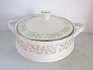 Taihei Fine China Springtime Covered Vegetable Server