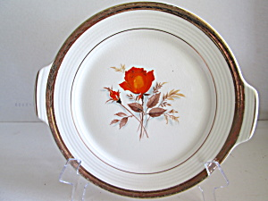 Triumph American Limoges Vermillion Rose Handled Plate
