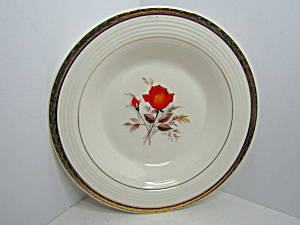 Triumph American Limoges Vermillion Rose Soup Bowl