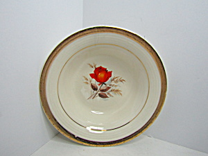 Triumph American Limoges Vermillion Rose Cereal Bowl