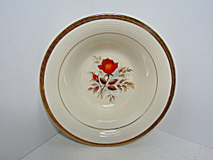 Triumph American Limoges Vermillion Rose Veg Bowl