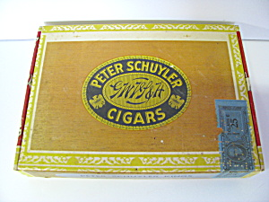 Vintage Peter Schuyler Kings Cigar Box