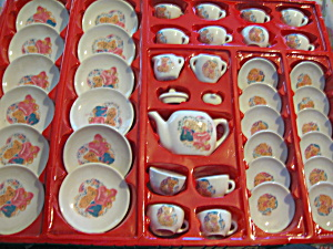 41 Piece Children's Toy Porcelain Tea Set