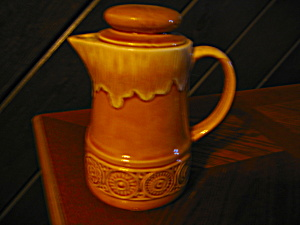 Vintage Tan/cream Teapot/pitcher