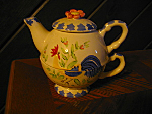 Nantucket Rooster Teapot For One