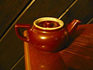 Individual Mini Brown Teapot