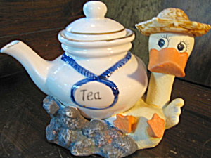 Summer Duck Ceramic Teapot