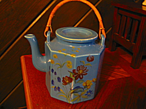 Oriental Style Bamboo Handle Teapot