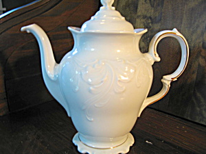 Wawel Casa Oro White Embossed Coffee Pot
