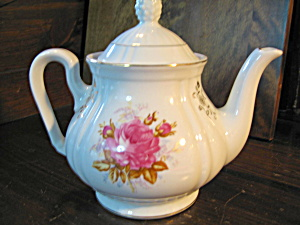 Pink Rose Crown Mugsroyale Teapot