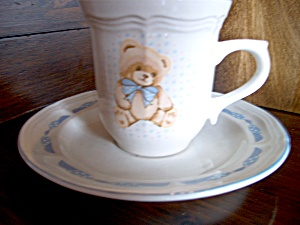 Tienshan Theodore Bear Cup/ Saucer Set