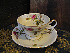Ucagco Moss Rose Cup And Saucer Set
