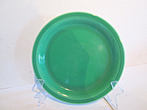 Vintage Unmarked Heavy Bright Green Bread Plates