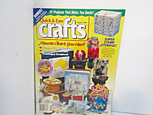 Vintage Magazine  Quick & Easy Crafts Aug 1999 (Image1)