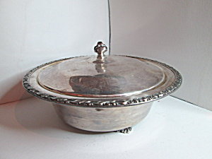 Wm. Rodgers Carol Pattern Silver Plate Serving Bowl