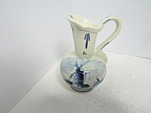 Vintage Blue & White Delph Blue Holland Mini Pitcher (Image1)