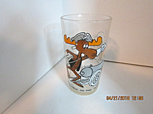 Vintage Arby's Glass Bullwinkle To The Defense