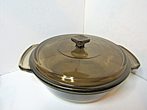 "Vintage Anchor Hocking 9"" Round Covered Casserole"