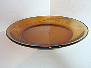 Vintage Anchor Hocking Amber Pie Plate