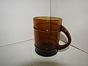 Vintage Anchor Hocking Amber Fire King Coffee Mug