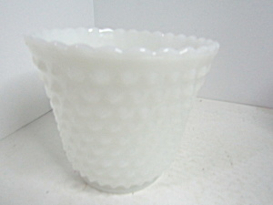Vintage Anchor Hocking Hobnail Milk Jardin Planter