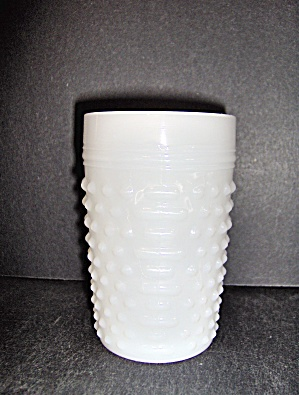 Hobnail Tumbler Milk Glass By Anchor Hocking