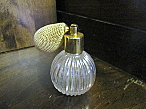 Vintage Refillable Clear Round Atomizer Perfume Bottle