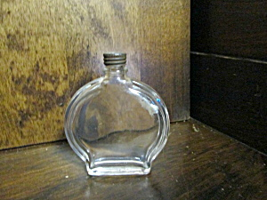 Vintage Refillable Clear Round Perfume Bottle