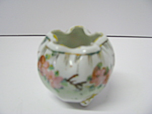 Vintage Porcelain Crimped Mini Rose Vase