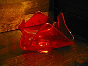 Vintage Orange Viking Epic Art Glass Candy Bowl (Image1)