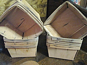 Vintage Quart Berry Baskets