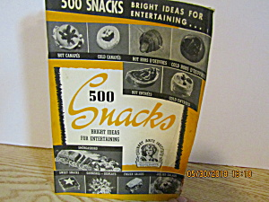 Culinary Arts 500 Snacks Bright Ideas Booklet #1