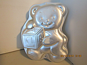 Vintage Wilton Teddy Bear With Block Cake Pan