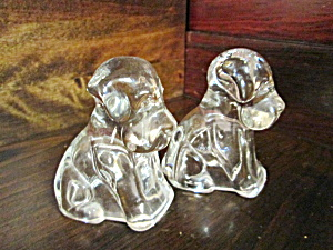 Vintage Federal Glass Dog Figures
