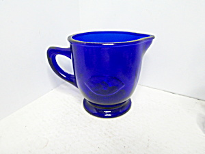 Vintage Bristol Blue Glass Pitcher Large Creamer