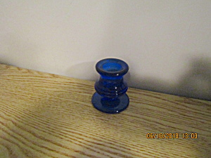 Vintage Bristol Blue Color Candle Holder