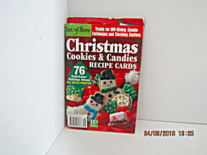 Vintage Booklet Christmas Cookie & Candies Recipe Cards