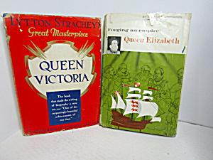 Vintage Book Set Queen Elizabeth & Queen Victoria (Image1)