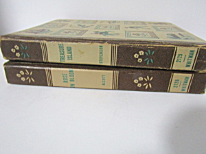 Vintage Book Set Treasure Island & Rose In Bloom