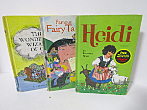 Whitman Classics Heidi Famous Fairy Tales Wizard Of Oz