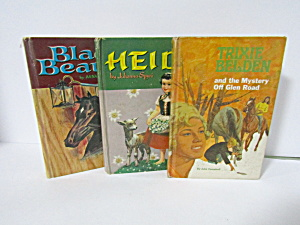 Vintage Books Heidi Black Beauty Trixie Belden
